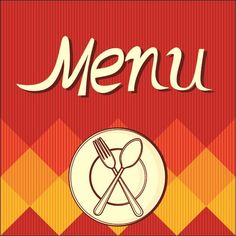 Red food menu cover vector graphic