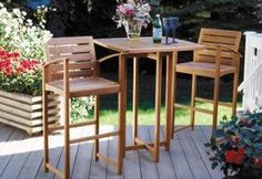 Build An Elegant Bar Height Patio Set Complete Material List And Building Details Included