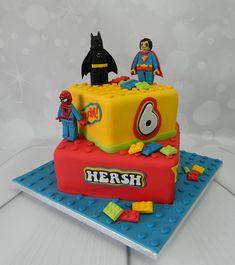 Lego superheroes Birthday cake