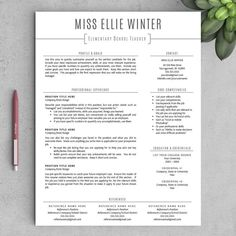 teacher resume template for word and pages one two page resumes included - Two Page Resume Sample