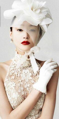 ♔ White hat