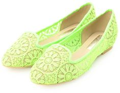 OPAQUE レーシーメッシュオペラシューズ / lace + mesh flats on ShopStyle