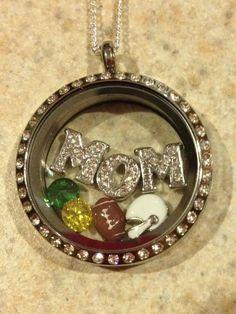 Football Super Mom gift! design your custom locket! Origami Owl!