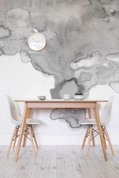 murs blancs ennuyeux sortent de la mode. Il y a une nouvelle façon d'habiller vos murs, dire bonjour à doux dessins à l'aquarelle enfumée. Cette conception de texture papier peint ajoute de l'intérêt à vos murs d'une manière contemporaine.