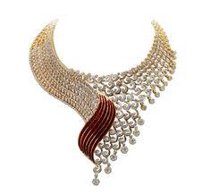 tribhovandas bhimji zaveri ltd bags three prestigious awards tbz jewellery diamond and gold necklace designs by 22caratjewellerycom 412x380