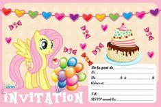 invitation anniversaire Fluttershy de my little pony à imprimer. 123cartes invitations et cartes anniversaire gratuites.