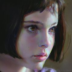 """Mathilda, One of my favorite character in movie """"Léon: The Professional"""" was played by Natalie Portman. Photo study, around 10 hours. Tools used : Photoshop CC + Wacom Digital Portrait, Portrait Art, Digital Art, Painting Portraits, Photoshop, Art Et Illustration, Color Studies, Painting Inspiration, Design Inspiration"""