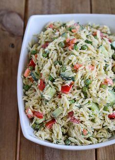 Orzo Salad Recipe with Yogurt Dill Dressing on http://RachelCooks.com