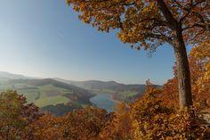 Blick von der St-Muffert-Klippe in Richtung Diemelsee