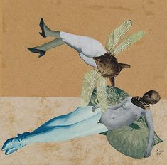 Hannah Hoch, Liebe (1931) Hoch's photomontage brings composition, colour, and concept into perfect alignment. She was clearly one of the most talented, if not THE most talented collagist of her time. You have to wonder if her gender plays a part in her relative invisibility in the Dadaist annals...