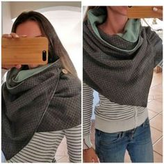 Tuto: Realize a big cheche, the trendy scarf of the moment - emilieberg - - Tuto : Réaliser une grande chèche, le foulard tendance du moment Tuto: Realize a big cheche, the trendy scarf of the moment - Style Couture, Couture Fashion, Diy Fashion, Fashion Models, Ideias Fashion, Woman Fashion, Sewing Scarves, Sewing Clothes, Diy Clothes