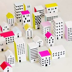 Papercraft Christmas Advent Calendar Town | Tektonten Papercraft