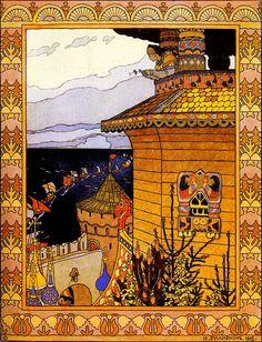Iillustrations to Russian folk tales