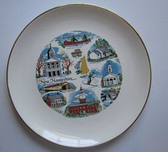 Vintage New Hampshire Scenic Souvenir Plate Paden Preview