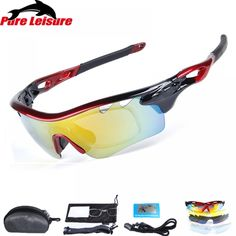 af768f8b02 PureLeisure Lunettes Polarisantes 1 Set 5 Lens Clip On Sunglasses Polarized  Fit Over Glasses Sun Glasses
