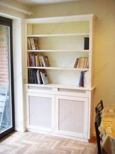 Built in Cupboards (Fitted Cabinets) Alcove Cupboards, Built In Cupboards, Built In Tv Cabinet, Built In Storage, Radiator Cover, Radiator Shelf, Kitchen Radiator, Fitted Cabinets, Wall Shelves