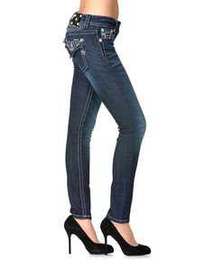 Miss Me Embroidered Yokes & Pocket Skinny Jeans - Sheplers
