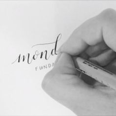 Monday funday! Faux calligraphy; How to fake it until you make it?  1. Grab your favourite pen or fineliner (I am using a pigma micron 01) 2. Write something fancy 3. Thicken the downstrokes 4. Do it neater than I did and make your lines even.  It's a fun way to fake calligraphy if messing with ink isn't an option, or if you don't want or own calligraphy supplies.  Happy Monday!