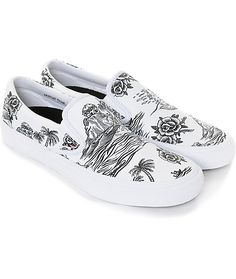 7ea0c132ed3f4 Vans x Sketchy Tank Slip-On Pro Skate Shoes