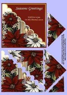 Mikulásvirág kártya elülső és Triangle Piramis | Craftsuprint