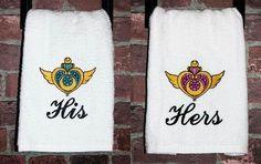 Fun bathroom towels