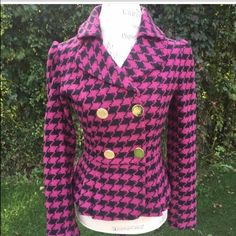 Ports 1961 Houndstooth Jacket Reposhing this item. I just got it in the mail but it fits me really snug. Ports 1961 Jackets & Coats Blazers