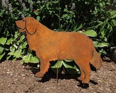 """Bernese Mountain Dog Garden Stake or Wall Hanging. This handcrafted Bernese Mountain Dog Garden Stake or Wall Hanging will become a decorative favorite. A charming way to add some fun to your home or garden decor. Approximately 20"""" diameter. Only rustic and black colors are in stock, all other colors are made to order. The rustic patina varies on each piece. Looking for different styles? Check out our Bernese Mountain Dog Plant Stake & Christmas Ornament by following the link provided:..."""