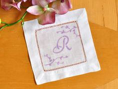 How To Make Printed Monogrammed Cocktail Napkins - diy wedding or cocktail party gift idea