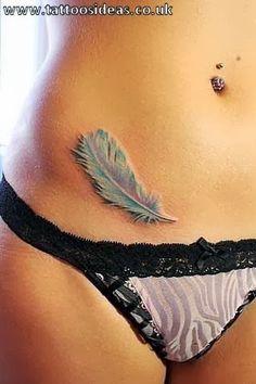 feather bird women hip