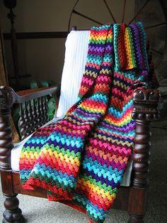 Granny Stripe - love the colors.
