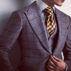 Tom Ford peakl lapel plaid 3 piece suit tie windsor knot  Be Inspired || #Padgram