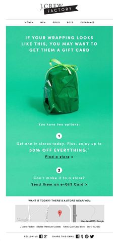 J.CREW : Gift card messaging