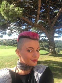 Girls Short Haircuts, Short Hairstyles For Women, Pixie Haircuts, Short Hair Cuts, Short Hair Styles, Pixie Cuts, Girl Mohawk, Female Mohawk, Half Shaved Hair