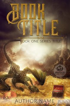 Premade book cover for fiction ebook • etsy.me/1ZL0vKq • Possible Genres: Fantasy • Magic • Dragon • Dragon's Gold • Dragon's Treasure