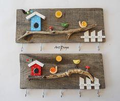 Art N Craft, Craft Stick Crafts, Diy Craft Projects, Paper Crafts, Diy Crafts, Clay Wall Art, Clay Art, Name Plate Design, Handmade Frames