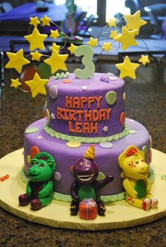 more barney cakes - I like the purple color
