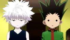 Killua & Gon. Killua is not impressed