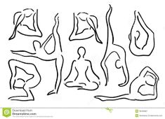 yoga pose illustrations - Google Search