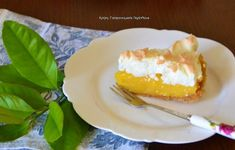 cretangastronomy.gr - Τάρτα με κρέμα πορτοκαλιού και βάση μπισκότου Party Desserts, Greek Recipes, French Toast, Cheesecake, Pudding, Cooking, Breakfast, Sweet, Food