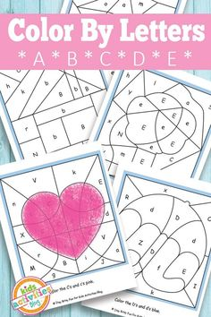 Color By Letters A, B, C, D, E {Free Kids Printable} - Kids Activities