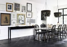 beautiful in black | decor | CECY j -Splendid Living- Creating the Spirit of Your Home