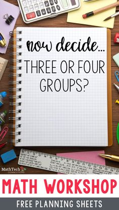 math workshop organization free planning sheets. Interested in guided math? This blog post will help you decided if you should organize your students into 3 or 4 math groups
