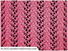#LACE KNITTING no.14 | Fern Lace a.k.a Open And Closed Fans stitch. A classic and very easy lace stitch