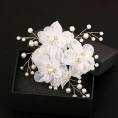 Ivory 3 Fabric Flowers Bridal Hair Combs Uk Usa Canada Bride Hairstyle