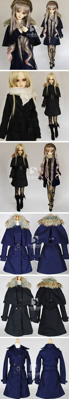 1/3 70cm fur cape collar long dust - 2 colors_-for girl_CLOTHES-for 1/3_welcome to SW&doll workshop!^_^