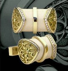 Most expensive cufflinks in world by Atelier Yozu $9,195.00 | The House of Beccaria ~