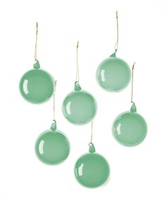 Deck the Shore: Serena & Lily Green Globes | CoastalLiving.com