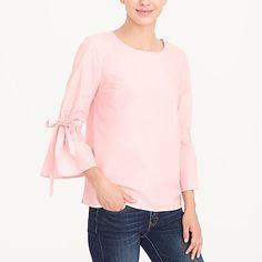 Bow-sleeve top factorywomen shirts & tops c
