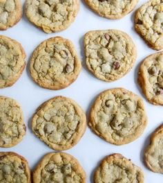 chewy potato chip chocolate chip cookies I howsweeteats.com