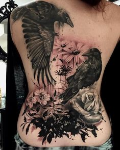 Added flowers and background to Ivorie's back piece/cover up today. Thanks again…